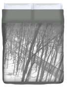 Winter Urban Wood Duvet Cover
