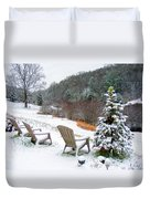 Winter Valley Chairs 2 Duvet Cover