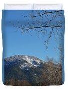 Winter Vista From Grants Pass Duvet Cover