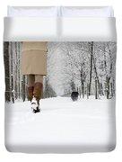 Winter Walk Duvet Cover