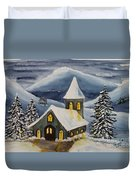 Winter Watercolor Duvet Cover