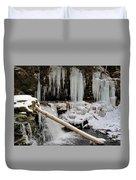 Winter Waterfall Duvet Cover