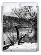 Winter Waterscape Duvet Cover