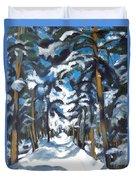 Winter Way Duvet Cover
