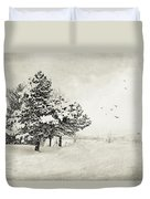 Winter White Duvet Cover by Julie Palencia