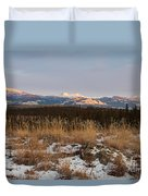 Winter Wilderness Landscape Yukon Territory Canada Duvet Cover