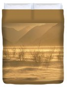 Winter Wind Storm W Blowing Snow Duvet Cover