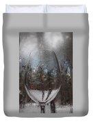 Winter Wine Duvet Cover