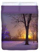 Winter Wonderland - Holiday Square - Casper Wyoming Duvet Cover