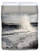 Winter Wonderland - Spectacular Niagara Falls Ice Buildup  Duvet Cover