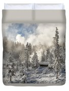 Winter Wonderland - Yellowstone National Park Duvet Cover
