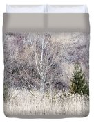 Winter Woodland With Subdued Colors Duvet Cover