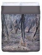Winter Woods In Missouri 1 Duvet Cover