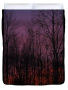 Winter Woods Sunset Duvet Cover