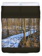 Winter Woods Walk Duvet Cover