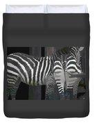 Winter Zebras Duvet Cover