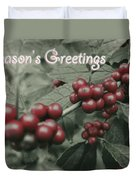 Winterberry Greetings Duvet Cover