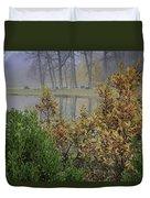 Winterberry In Fog Duvet Cover