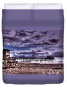Winters Beach Solitude Duvet Cover