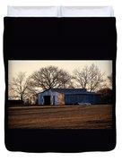 Winter's Cow Barn Duvet Cover