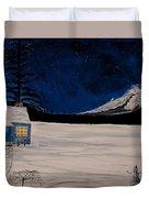 Winter's Eve Duvet Cover