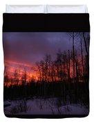 Winter's Fire Duvet Cover