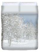 Winter's Glory - Grand Tetons Duvet Cover