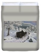 Winters Journey Duvet Cover