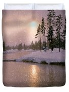 Winters Light Duvet Cover