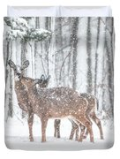 Winters Love Duvet Cover