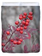 Winter's Red Duvet Cover