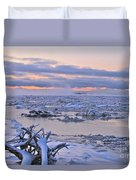 Winters River Duvet Cover