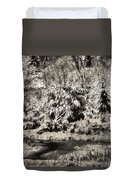 Winter's Sepia Grip Duvet Cover