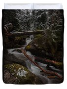 Winters Stream Flow Duvet Cover
