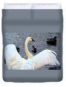 Winter's White Swan Duvet Cover