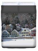 Wintery Alton Bay Nh Duvet Cover