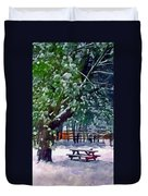 Wintry  Snowy Trees Duvet Cover