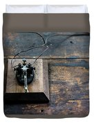 Wire Message Duvet Cover