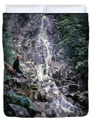 Wirt At Falls In Bc Duvet Cover