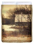 Wisconsin Barn In Winter Duvet Cover