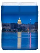 Wisconsin Capitol Reflection Duvet Cover