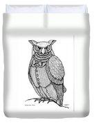 Wisdom Owl Duvet Cover