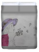 Wish Upon A Dandelion In Colour Duvet Cover