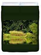 Wispy Wild Grass Reflections Duvet Cover