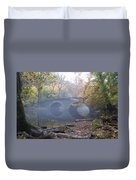 Wissahickon Creek And Bells Mill Road Bridge Duvet Cover