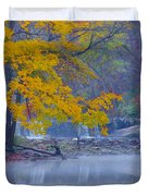 Wissahickon Morning In Autumn Duvet Cover