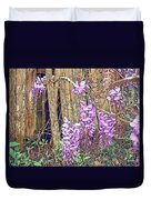 Wisteria And Old Fence Duvet Cover