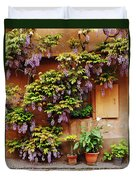 Wisteria On Home In Zellenberg 4 Duvet Cover by Greg Matchick