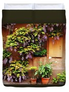 Wisteria On Home In Zellenberg France Duvet Cover