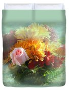 With Love Flower Bouquet Duvet Cover